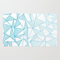 Abstraction Lines Waterc… Rug