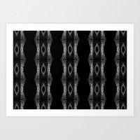 Black & White Lace Art Print