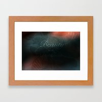Beauty in the Darkness Framed Art Print
