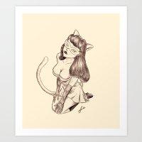 Kitschy Kat Art Print