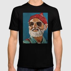 Steve Zissou  Black SMALL Mens Fitted Tee