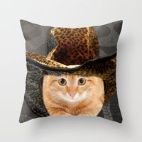 the cat in the hat Throw Pillow