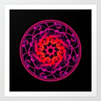 Love Mandala Art Print