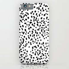 Nadia - Black and White, Animal Print, Dalmatian Spot, Spots, Dots, BW iPhone 6s Slim Case