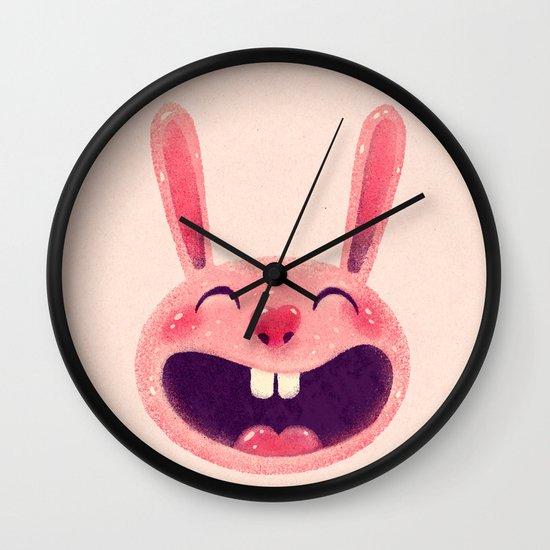 Bunny with love Wall Clock