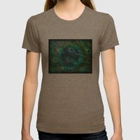 The Peacock Dream Womens Fitted Tee Tri-Coffee SMALL