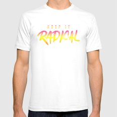 Keep it Radical Mens Fitted Tee White SMALL