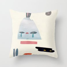 volacno and moon Throw Pillow
