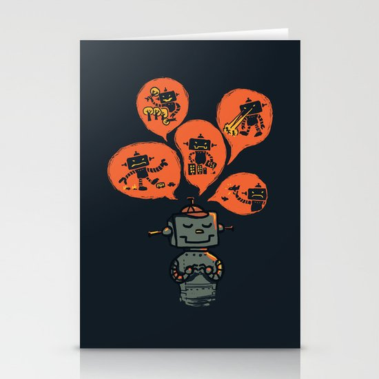 When I grow up - an evil robot dream Stationery Card