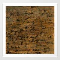 confessions Art Print