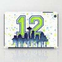Hawks 12th Man Fan Art iPad Case