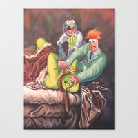Beaker Slaying Honeydew Canvas Print