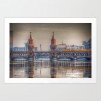 Berlin Winter Bridge Art Print