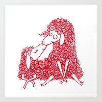 Derpy Love Art Print