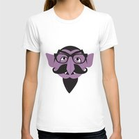 Hipster Count Womens Fitted Tee White SMALL