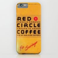 iPhone & iPod Case featuring Red Circle Coffee by Cryptohelix