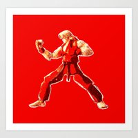 Street Fighter II - Ken Art Print