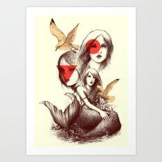 When Mermaids Cry Art Print