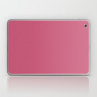 Dark Pink Spotty Pattern Laptop & iPad Skin