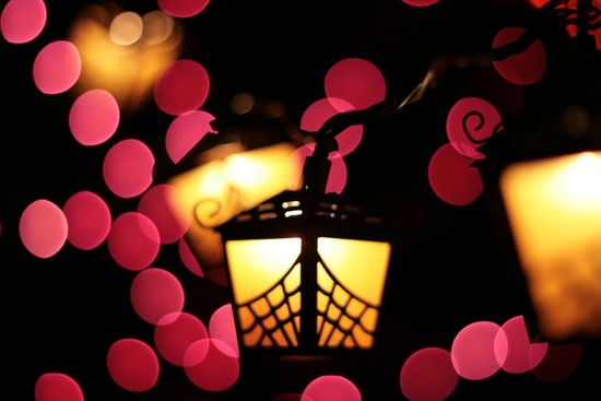 halloween lights Art Print