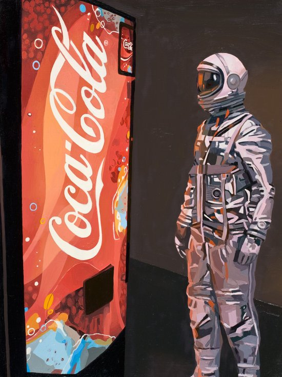 The Coke Machine Canvas Print