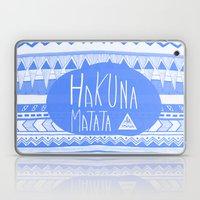 Hakuna Matata electric blue  Laptop & iPad Skin