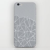 iPhone & iPod Skin featuring Ab Linear Grey by Project M