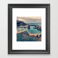 Grey Clouds Above The Fe… Framed Art Print