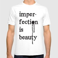 Imperfection Is Beauty Mens Fitted Tee White SMALL