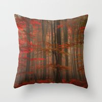 Enchanting Red Throw Pillow