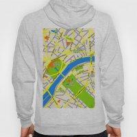 Paris map design Hoody