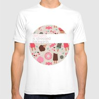 Desserts! Mens Fitted Tee White SMALL