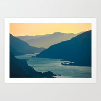Columbia River Gorge At … Art Print
