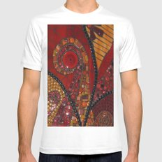Swirls Mens Fitted Tee SMALL White