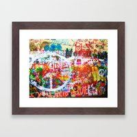 Lennon Wall - All You Need Is Love - Peace Framed Art Print