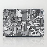 Pile de Monstres - Black/White iPad Case