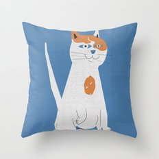 Sam the cat Throw Pillow