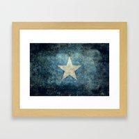 Somalian National Flag -… Framed Art Print