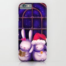 Chubby bunnies at christmas night iPhone 6 Slim Case
