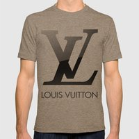 Louis Vuitton Mens Fitted Tee Tri-Coffee SMALL