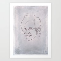 One line doctor Who (Matt Smith) Art Print