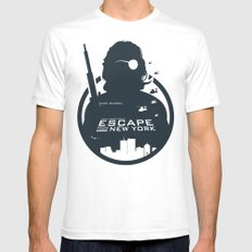 John Carpenter's Escape From New York Mens Fitted Tee White SMALL