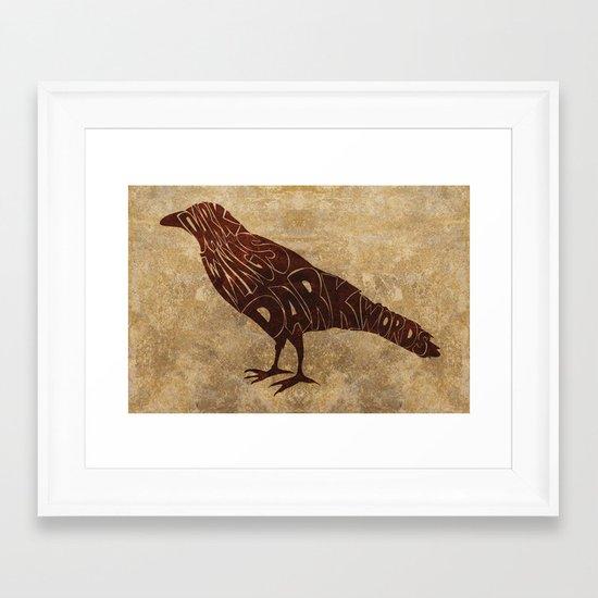 Dark wings Framed Art Print