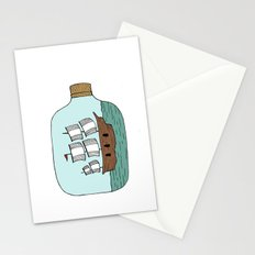 Ship in a Bottle Stationery Cards