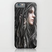 iPhone & iPod Case featuring Feathers in Her Hair by Justin Gedak