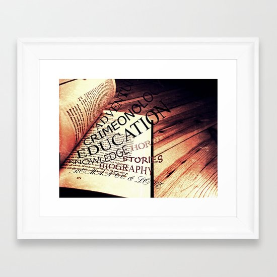 Book of knowledge Framed Art Print