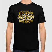 Nuthin Mens Fitted Tee Black SMALL