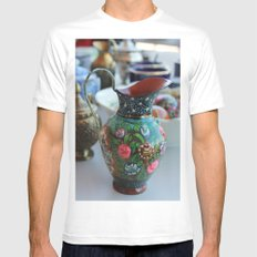 Vase White SMALL Mens Fitted Tee