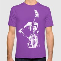 TATTOO GIRL THREE Mens Fitted Tee Ultraviolet SMALL