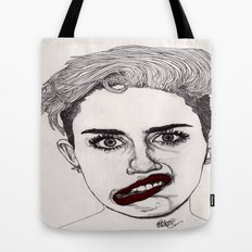 Miley with Red Lips Tote Bag